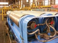 Slab caster roll assembly